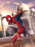 Spider-Man: India No.2 Cover: Spider-Man Plastic Sign by Suresh Seetharaman