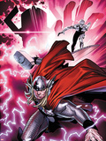 The Mighty Thor No.1 Cover: Thor and the Silver Surfer Plastic Sign by Olivier Coipel