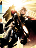 The Mighty Thor No.3: Thor Walking Plastic Sign by Olivier Coipel