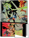 X-Statix No.21 Group: Iron Man, Thor and Captain America Prints by Michael Allred