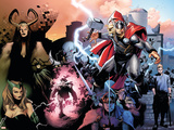 Thor No.600 Cover: Thor, Balder, Loki and Enchantress Plastic Sign by Olivier Coipel