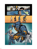 Origins of Marvel Comics: X-Men No.1: Beast Running Plastic Sign by Salvador Espin