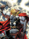 The Mighty Thor No.11 Cover: Thor Standing with Mjonir Wall Decal by Dale Keown