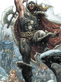 Thor: For Asgard No.1: Thor Smashing Plastic Sign by Simone Bianchi
