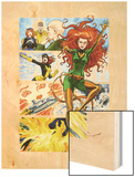 Origins of Marvel Comics: X-Men No.1: Phoenix Flying Wood Print by Jill Thompson
