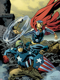 Free Comic Book Day 2011 (Thor The Mighty Avenger) No.1 Cover: Captain America and Thor Plastic Sign by Chris Samnee