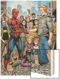 Marvel Adventures Spider-Man No.34 Group: Spider-Man, Green Goblin, Flash Thompson Wood Print by Cory Hamscher