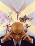 Mythos X-Men No.1 Cover: Professor X, Angel, Beast, Iceman, Cyclops, Marvel Girl and X-Men Plastic Sign