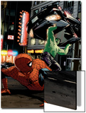Spider-Man Unlimited No.11 Cover: Hulk and Spider-Man Prints by Michael Lark
