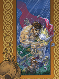Thor: Blood Oath No.3 Cover: Thor and Hercules Plastic Sign by Scott Kolins