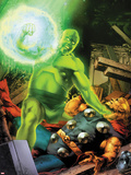 Thor: First Thunder No.4 Cover: Radioactive Man and Thor Fighting Plastic Sign by Jay Anacleto