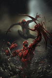 Superior Carnage 4 Cover: Spider-Man, Carnage Plastic Sign by Clayton Crain