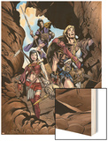 Thor Son Of Asgard No.2 Group: Thor, Sif and Balder Fighting Wood Print by Greg Tocchini