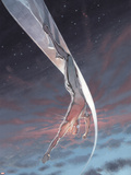 Silver Surfer: Requiem No.1 Cover: Silver Surfer Plastic Sign
