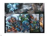 Thor: Blood Oath No.4 Group: Thor, Hogun, Volstagg and Fandral Plastic Sign by Scott Kolins
