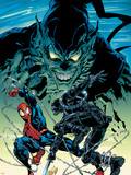 Amazing Spider-Man No.513 Cover: Spider-Man, Green Goblin and Stacy Twins Plastikskilte af Mike Deodato