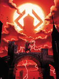 The Mighty Thor No.3 Cover: Thor Facing Galactus Plastic Sign by Olivier Coipel