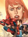 The Amazing Spider-Man No.604 Cover: Spider-Man, and Peter Parker Signe en plastique rigide par Leinil Francis Yu