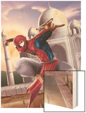 Spider-Man: India No.2 Cover: Spider-Man Wood Print by Suresh Seetharaman