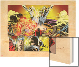Thor: First Thunder No.5: Panels with Odin Wood Print by Tan Eng Huat