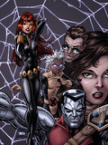 X-Men Forever No.12 Cover: Black Widow, Colossus and Storm Plastic Sign by Tom Grummett