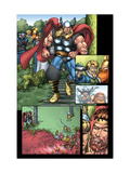 Thor: Blood Oath No.3 Cover: Thor Plastic Sign by Scott Kolins