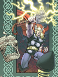 Thor: Blood Oath No.1 Cover: Thor Plastic Sign by Scott Kolins