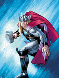The Mighty Thor No.12.1 Cover: Thor with Mjonir Plastic Sign by Olivier Coipel