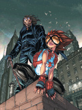 Amazing Fantasy No.4 Cover: Arana and Miguel Swinging Wall Decal by Mark Brooks