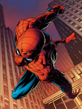 Amazing Spider-Man No.641: Spider-Man Swinging Wall Decal by Joe Quesada