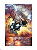 The Mighty Thor No.10: Thor Flying with Mjolnir Wall Decal by Pepe Larraz
