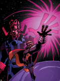 What If Thor No.1 Cover: Thor and Galactus Plastic Sign by Michael Avon Oeming