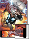 The Mighty Thor No.10: Thor Flying with Mjolnir Posters by Pepe Larraz