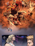 Thor No.1 Group: Thor, Valkyrie, Sif, Beta-Ray Bill, Volstagg, Blake and Donald Screaming Wall Decal by Olivier Coipel