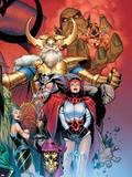 Thor: Tales of Asgard by Stan Lee & Jack Kirby No.6 Cover: Sif and Odin Plastic Sign by Olivier Coipel
