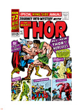 Jack Kirby - Journey Into Mystery: Thor No.1 Cover: Thor and Hercules Fighting Plastové cedule