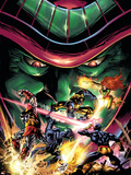 X-Men Unlimited No.13 Cover: Colossus, Wolverine, Beast, Cyclops, Phoenix and Mesmero Plastic Sign by Clay Mann