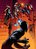 Ultimate Spider-Man No.126 Cover: Spider-Man, Iron Man, Captain America and Thor Plastic Sign by Stuart Immonen