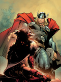 Thor No.5 Cover: Thor Plastic Sign by Olivier Coipel