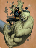 Ultimate Wolverine Vs. Hulk No.2 Cover: Wolverine and Hulk Plastic Sign by Leinil Francis Yu