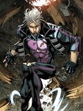 Ultimate Comics X-Men No.7: Quicksilver Crouching Plastic Sign by Carlo Barberi