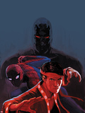Shadowland: Spider-Man No.1 Cover: Spider-Man and Shang-Chi Posing Plastic Sign by Stephanie Hans