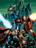 Thor No.81 Cover: Thor, Iron Man and Captain America Plastic Sign by Steve Epting