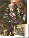 Ultimate Comics X-Men No.7: Quicksilver Crouching Wood Print by Carlo Barberi