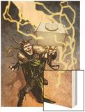 Loki No.1 Cover: Loki Standing Wood Print by Sebastian Fiumara