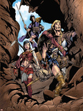 Thor Son Of Asgard No.2 Group: Thor, Sif and Balder Fighting Wall Decal by Greg Tocchini