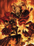 Thor No.613 Cover: Thor Fighting in Flames Plastic Sign by Mico Suayan