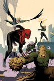Superior Spider-Man Team-Up 6 Cover: Spider-Man, Vulture, Electro, Mysterio, Chameleon, Sandman Plastic Sign by Paolo Rivera