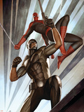 The Amazing Spider-Man No.609 Cover: Spider-Man and Damon Ryder Plastic Sign by Adi Granov