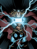 Astonishing Thor No.2 Cover: Thor Holding Mjonir Plastic Sign by Ed McGuinness